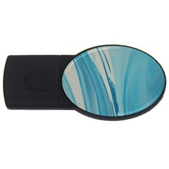 Blue Swirl Usb Flash Drive Oval (4 Gb) by WILLBIRDWELL