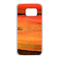 Sunset Samsung Galaxy S7 White Seamless Case