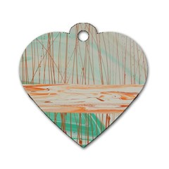 Wheat Field Dog Tag Heart (two Sides)