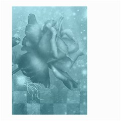 Wonderful Blue Soft Roses Small Garden Flag (two Sides) by FantasyWorld7