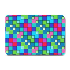 Retro Squares                                             Small Doormat by LalyLauraFLM
