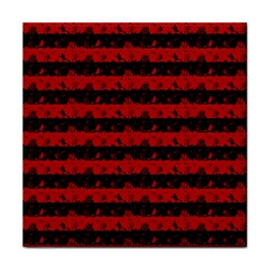 Blood Red And Black Halloween Nightmare Stripes  Tile Coasters by PodArtist