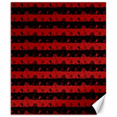 Blood Red And Black Halloween Nightmare Stripes  Canvas 20  X 24  by PodArtist