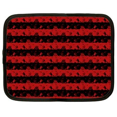 Blood Red And Black Halloween Nightmare Stripes  Netbook Case (large) by PodArtist