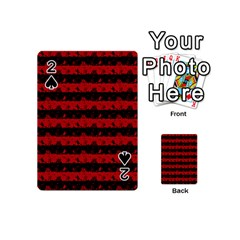 Blood Red And Black Halloween Nightmare Stripes  Playing Cards 54 (mini) by PodArtist