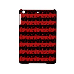 Blood Red And Black Halloween Nightmare Stripes  Ipad Mini 2 Hardshell Cases by PodArtist