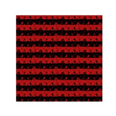 Blood Red And Black Halloween Nightmare Stripes  Small Satin Scarf (square)