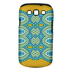 Green Blue Shapes                                      Samsung Galaxy S Ii I9100 Hardshell Case (pc+silicone) by LalyLauraFLM