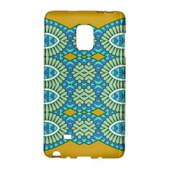 Green Blue Shapes                                      Samsung Galaxy Note 4 Leather Folio by LalyLauraFLM