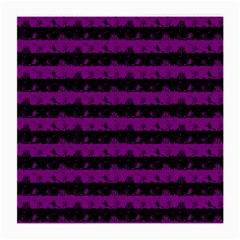Zombie Purple And Black Halloween Nightmare Stripes  Medium Glasses Cloth by PodArtist