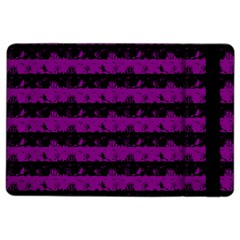 Zombie Purple And Black Halloween Nightmare Stripes  Ipad Air 2 Flip by PodArtist