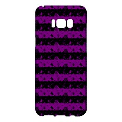 Zombie Purple And Black Halloween Nightmare Stripes  Samsung Galaxy S8 Plus Hardshell Case  by PodArtist