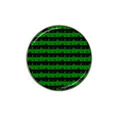 Alien Green And Black Halloween Nightmare Stripes  Hat Clip Ball Marker (10 Pack)