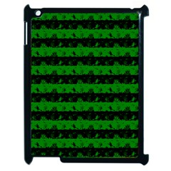 Alien Green And Black Halloween Nightmare Stripes  Apple Ipad 2 Case (black)