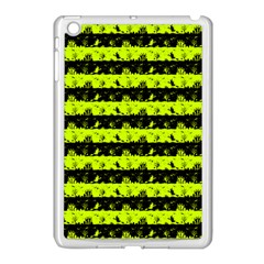 Slime Green And Black Halloween Nightmare Stripes  Apple Ipad Mini Case (white) by PodArtist