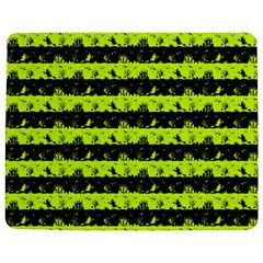Slime Green And Black Halloween Nightmare Stripes  Jigsaw Puzzle Photo Stand (rectangular)