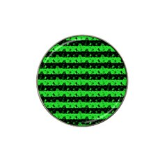 Monster Green And Black Halloween Nightmare Stripes  Hat Clip Ball Marker (10 Pack) by PodArtist