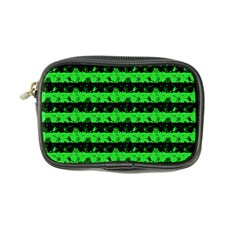 Monster Green And Black Halloween Nightmare Stripes  Coin Purse by PodArtist
