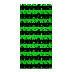 Monster Green And Black Halloween Nightmare Stripes  Shower Curtain 36  X 72  (stall)  by PodArtist