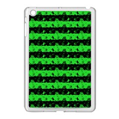 Monster Green And Black Halloween Nightmare Stripes  Apple Ipad Mini Case (white) by PodArtist