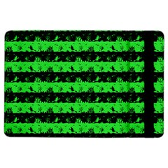 Monster Green And Black Halloween Nightmare Stripes  Ipad Air 2 Flip by PodArtist
