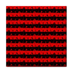 Red Devil And Black Halloween Nightmare Stripes  Tile Coasters by PodArtist