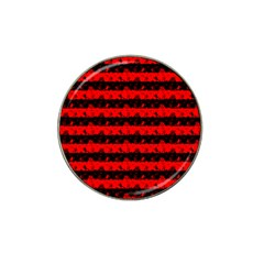 Red Devil And Black Halloween Nightmare Stripes  Hat Clip Ball Marker (4 Pack) by PodArtist