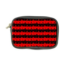 Red Devil And Black Halloween Nightmare Stripes  Coin Purse by PodArtist