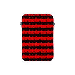 Red Devil And Black Halloween Nightmare Stripes  Apple Ipad Mini Protective Soft Cases by PodArtist