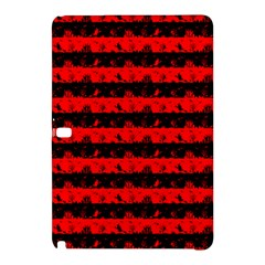 Red Devil And Black Halloween Nightmare Stripes  Samsung Galaxy Tab Pro 10 1 Hardshell Case by PodArtist