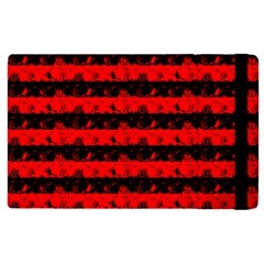 Red Devil And Black Halloween Nightmare Stripes  Apple Ipad Pro 9 7   Flip Case by PodArtist