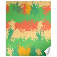 Spots In Retro Colors                                             Canvas 16  X 20  by LalyLauraFLM