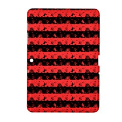 Donated Kidney Pink And Black Halloween Nightmare Stripes  Samsung Galaxy Tab 2 (10 1 ) P5100 Hardshell Case  by PodArtist