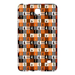 Witches, Monsters And Ghosts Halloween Orange And Black Patchwork Quilt Squares Samsung Galaxy Tab 4 (8 ) Hardshell Case  by PodArtist
