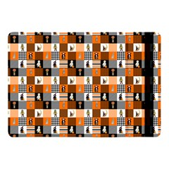 Witches, Monsters And Ghosts Halloween Orange And Black Patchwork Quilt Squares Apple Ipad Pro 10 5   Flip Case by PodArtist