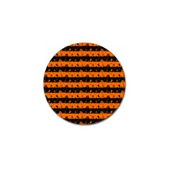 Dark Pumpkin Orange And Black Halloween Nightmare Stripes  Golf Ball Marker (10 Pack) by PodArtist