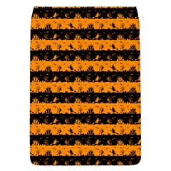 Pale Pumpkin Orange And Black Halloween Nightmare Stripes  Removable Flap Cover (s) by PodArtist
