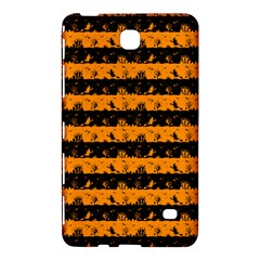 Pale Pumpkin Orange And Black Halloween Nightmare Stripes  Samsung Galaxy Tab 4 (8 ) Hardshell Case  by PodArtist