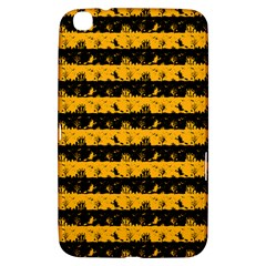 Pale Pumpkin Orange And Black Halloween Nightmare Stripes  Samsung Galaxy Tab 3 (8 ) T3100 Hardshell Case  by PodArtist