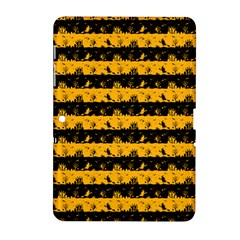 Pale Pumpkin Orange And Black Halloween Nightmare Stripes  Samsung Galaxy Tab 2 (10 1 ) P5100 Hardshell Case  by PodArtist