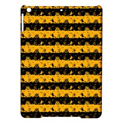 Pale Pumpkin Orange And Black Halloween Nightmare Stripes  Ipad Air Hardshell Cases by PodArtist