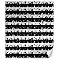 Black And White Halloween Nightmare Stripes Canvas 20  X 24  by PodArtist