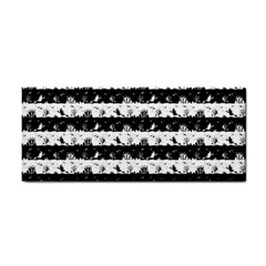 Black And White Halloween Nightmare Stripes Hand Towel by PodArtist