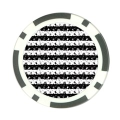 Black And White Halloween Nightmare Stripes Poker Chip Card Guard (10 Pack) by PodArtist