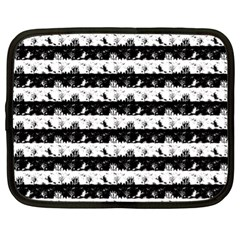 Black And White Halloween Nightmare Stripes Netbook Case (xl) by PodArtist