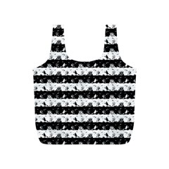 Black And White Halloween Nightmare Stripes Full Print Recycle Bag (s) by PodArtist