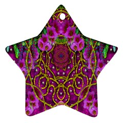 Star Of Freedom Ornate Rainfall In The Tropical Rainforest Ornament (star) by pepitasart