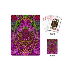 Star Of Freedom Ornate Rainfall In The Tropical Rainforest Playing Cards (mini) by pepitasart
