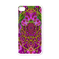 Star Of Freedom Ornate Rainfall In The Tropical Rainforest Apple Iphone 4 Case (white) by pepitasart