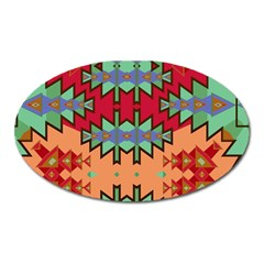 Misc Tribal Shapes                                               Magnet (oval) by LalyLauraFLM